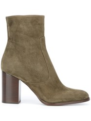 Veronique Branquinho Chunky Heel Ankle Boots Green