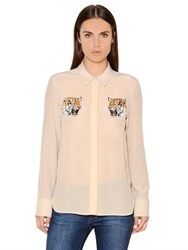 Stella Mccartney Tiger Silk Crepe De Chine Shirt