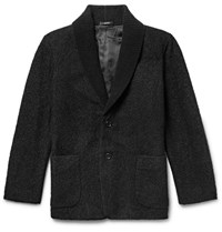 Issey Miyake Men Shawl Collar Boucle Jacket Black