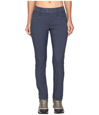 Royal Robbins Herringbone Discover Pencil Pants Dark Indigo Women's Casual Pants Blue