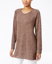 Styleandco. Style Co. Melange Knit Tunic Only At Macy's Deep Mocha