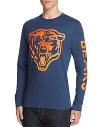 Junk Food Chicago Bears Long Sleeve Graphic Tee New Navy