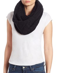 Echo Multi Stitches Loop Scarf Black
