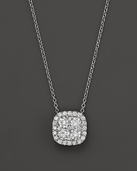 Bloomingdale's Diamond Cluster Pendant Necklace In 14K White Gold 2.0 Ct. T.W.