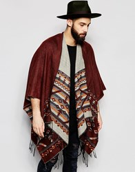 Gregorys Gregory's Festival Cape With Geo Tribal Pattern In Brown Brown
