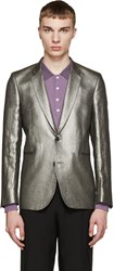 Paul Smith Silver Linen Blazer