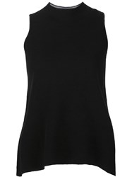 Milly Round Hem Relaxed Fit Top Black