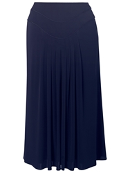 Chesca Piping Trim Tuck Skirt Navy