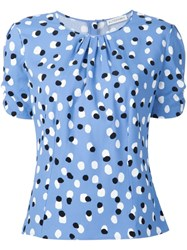 Altuzarra Polka Dot Blouse Blue