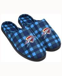 Forever Collectibles Oklahoma City Thunder Flannel Slide Slippers Blue