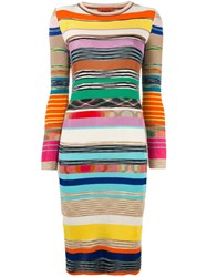 Missoni Striped Knit Dress Multicolour