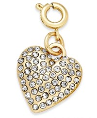 Inc International Concepts Gold Tone Pave Heart Clip On Charm Only At Macy's