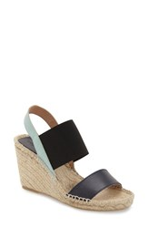 Women's Charles David 'Odessa' Espadrille Wedge Sandal Navy Turquoise Leather