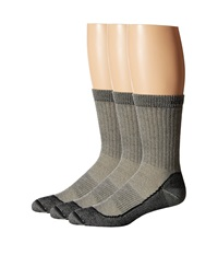 Icebreaker Hike Basic Med Crew 3 Pair Pack Oil Silver Men's Crew Cut Socks Shoes Gray