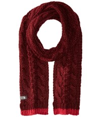 The North Face Cable Minna Scarf Deep Garnet Red Scarves Brown
