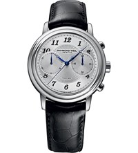 Raymond Weil 4830 Stc05659 Maestro Stainless Steel And Leather Watch