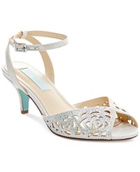 Blue By Betsey Johnson Raven Evening Sandals Women's Shoes Silver