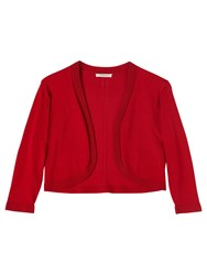 Precis Petite Mackenzie Knitted Shrug Mid Red