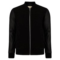 Selected Homme Perry Mix Leather Jacket Black