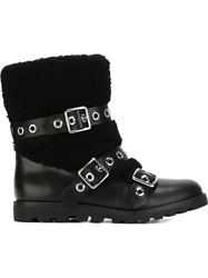 Marc By Marc Jacobs Buckled Boots Black