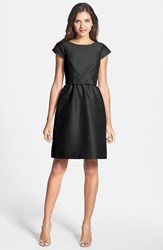 Women's Alfred Sung Woven Fit And Flare Dress Black