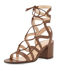 Gianvito Rossi Lace Up Block Heel 60Mm Gladiator Sandal Texas