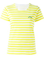 Societe Anonyme Striped T Shirt Yellow And Orange