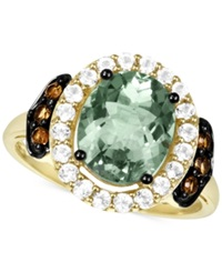 Le Vian Green Amethyst 2 1 4 Ct. T.W. Smoky Quartz 1 6 Ct. T.W. And White Topaz 1 2 Ct. T.W. Ring In 14K Gold