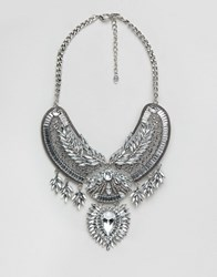 Aldo Cesoli Statement Necklace Silver