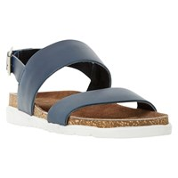 Dune Ice Pop Leather Sandal Navy