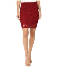 Sanctuary Hand Craft Skirt Boheme Red Women's Skirt