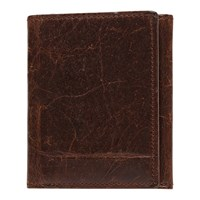 Moore And Giles Tri Fold Wallet Brown
