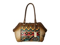 Anuschka 587 Antique Aztec Handbags Brown