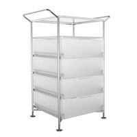 Kartell Mobil 4 Drawer Shelf Ice