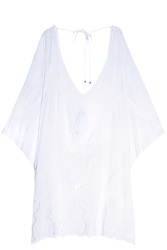 Vix Swimwear Embroidered Kaftan White