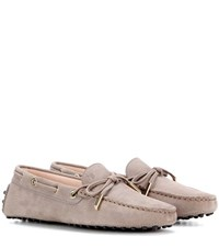Tod's Heaven New Laccetto Suede Loafers Brown
