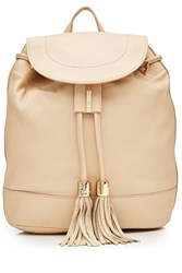 See By Chloe Leather Backpack Beige