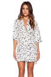 Motel Stella Shirt Dress White