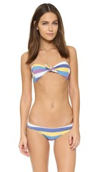 Lisa Marie Fernandez Poppy Stripe Bikini Purple Yellow Blue Stripe