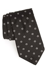 Men's Todd Snyder White Label Dot Silk Tie Black