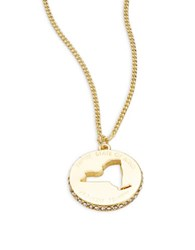 Kate Spade State Of Mind New York Pendant Necklace Gold