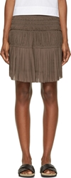 Isabel Marant Grey Pleated And Gathered Alma Skirt