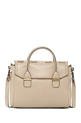 Mackage Large Leather Flap Satchel Beige