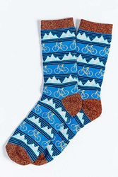 Urban Outfitters Mountain Bike Icon Sock Blue