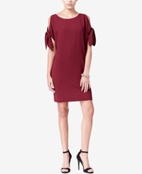 Bar Iii Cold Shoulder Shift Dress Only At Macy's Tile Red
