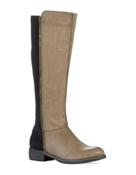 Mia Carolyn Faux Leather Knee Hi Boots Taupe
