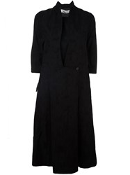 Individual Sentiments Three Quarter Sleeve Shirt Dress Black