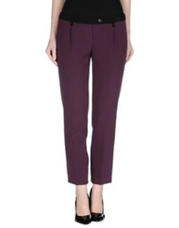Gold Case Casual Pants Purple
