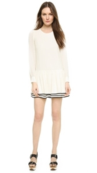 See By Chloe Long Sleeve Dress Cream Black