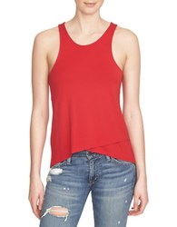 1.State Asymmetrical Racerback Tank Top Red